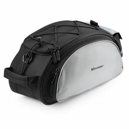 Cyklistická taška na zavazadlový prostor kola s páskem přes rameno černá (WBB1BK)