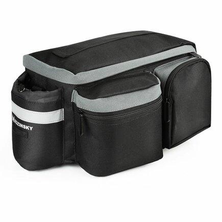 Cyklistická taška na zavazadlový prostor kola s páskem přes rameno černá (WBB3BK)