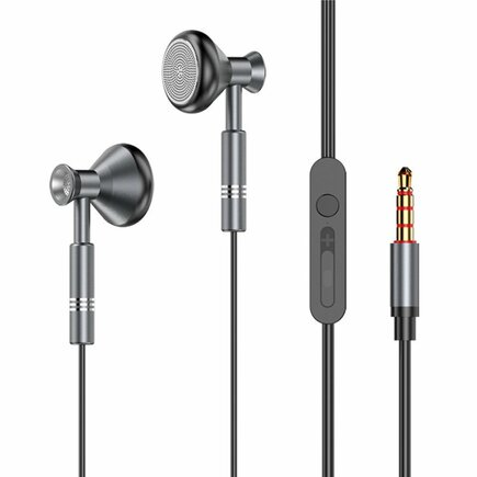 Dudao Metal X8Pro flat wired earphones grey