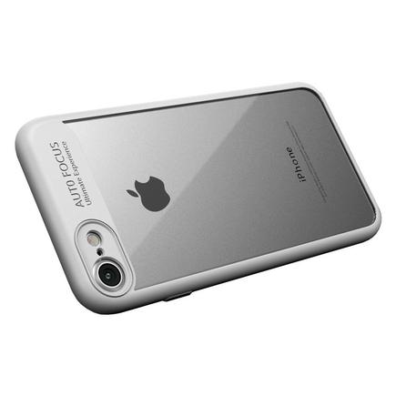 Frame elastické gelové pouzdro s rámem iPhone 8 / 7 bílé