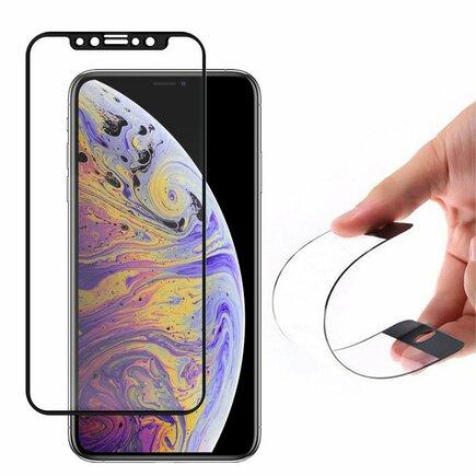 Full Cover Flexi Nano skleněná fólie s rámem iPhone 11 Pro Max / iPhone XS Max černá