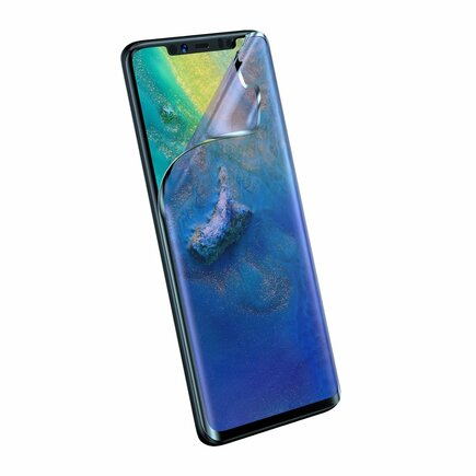 Full-screen 2x ochranná fólie 3D Anti-Blue Light 0;15 mm na celý displej Huawei Mate 20 Pro černé (SGHWMATE20P-KS01)