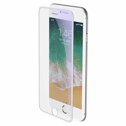 Full-screen tvrzené sklo 3D Anti-Blue Light na celý displej s krytem na reproduktor Apple iPhone 8 Plus / 7 Plus / 6S Plus / 6 Plus bílé (SGAPIPH8P-WB02)