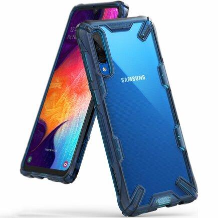 Fusion X pancéřové pouzdro s rámem Samsung Galaxy A50 modré (FUSG0022)