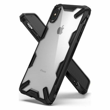 Fusion X pancéřové pouzdro s rámem iPhone XS Max černé (FUAP0006-RPKG)