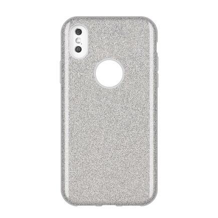 Glitter Case lesklé pouzdro s brokátem Huawei Y7 2019 / Y7 Prime 2019 stříbrné