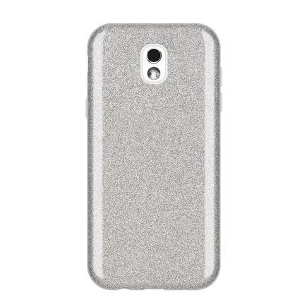 Glitter Case lesklé pouzdro s brokátem Samsung Galaxy J5 2017 J530 stříbrné