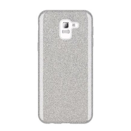 Glitter Case lesklé pouzdro s brokátem Samsung Galaxy J6 2018 J600 stříbrné