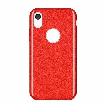 Glitter Case lesklé pouzdro s brokátem iPhone XR červené