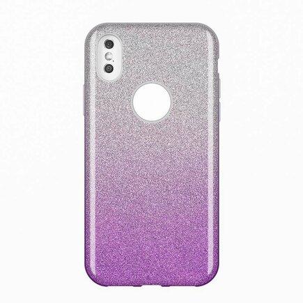 Glitter Case lesklé pouzdro s brokátem iPhone XS Max fialové