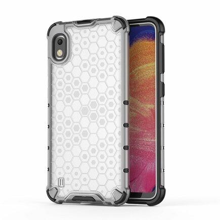 Honeycomb pancéřové pouzdro s gelovým rámem Samsung Galaxy A10 průsvitné