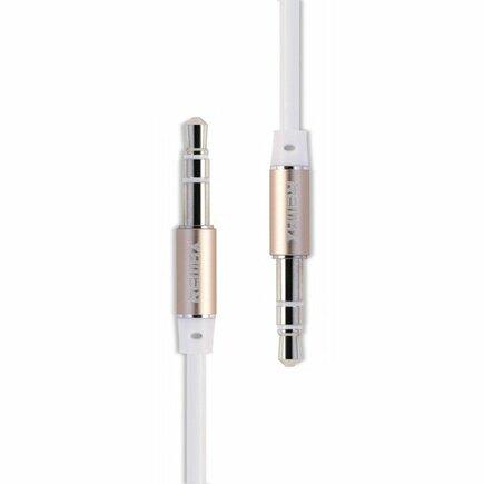 Kabel aux mini jack 1m bílý