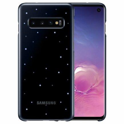 LED Cover pouzdro Samsung Galaxy S10 černé (EF-KG973CBEGWW)