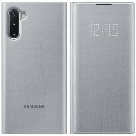 LED View Cover pouzdro s LED displejem Samsung Galaxy Note 10 stříbrné (EF-NN970PSEGWW)