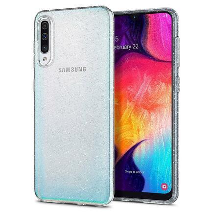 Liquid Crystal pouzdro Galaxy A50 GLITTER průsvitné