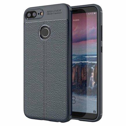 Litchi Pattern elastické pouzdro Huawei Honor 9 Lite modré