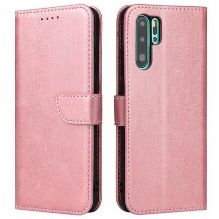 Magnet Case elegantní pouzdro s klapkou a funkcí podstavce Huawei P30 Pro růžové