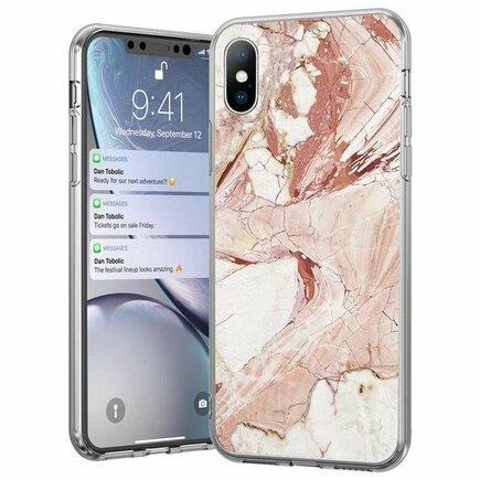 Marble gelové pouzdro mramor Samsung Galaxy A40 růžové