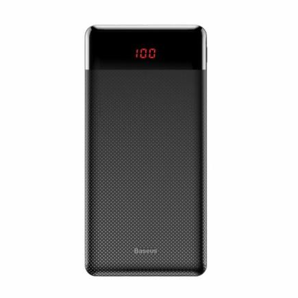 Mini Cu přenosná power banka 10000 mAh 2x USB 2.1A černá