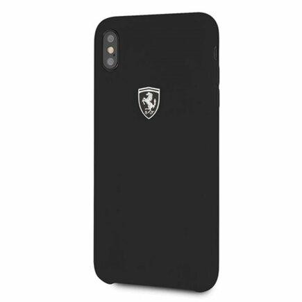 Off Track Silicone Case Pouzdro černé pro iPhone XS Max