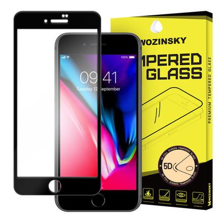 PRO+ super odolné tvrzené sklo 5D přes celý displej s rámem iPhone 8 černé