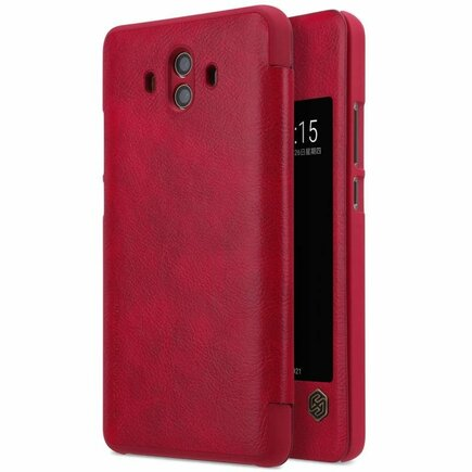 Qin kožené pouzdro Huawei Mate 10 červené