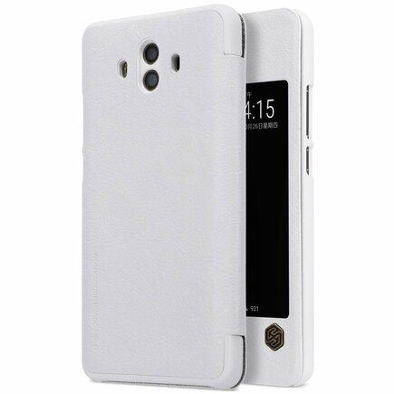 Qin kožené pouzdro Huawei Mate 10 bílé