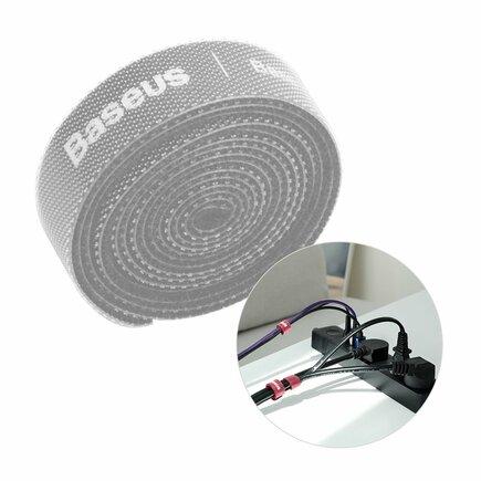 Rainbow Circle Velcro Straps - páska na suchý zip pro organizaci kabelů 1m šedá (ACMGT-E0G)