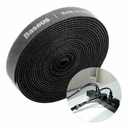 Rainbow Circle Velcro Straps - páska na suchý zip pro organizaci kabelů 3m černá (ACMGT-F01)