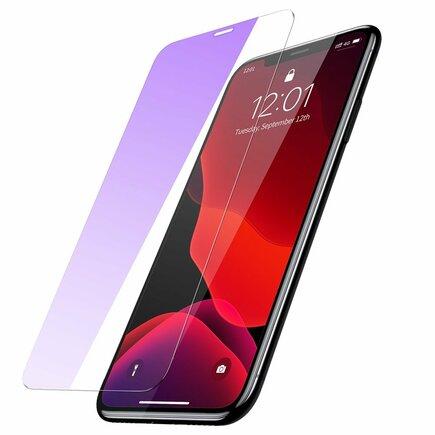 Sada 2x tvrzené sklo 0.15mm 9H Anti-bluelight iPhone 11 Pro / iPhone XS / iPhone X + pozicionér (SGAPIPH58S-FC02)