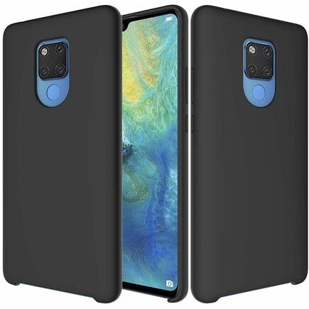Silicone Case elastické silikonové pouzdro Huawei Mate 20 černé