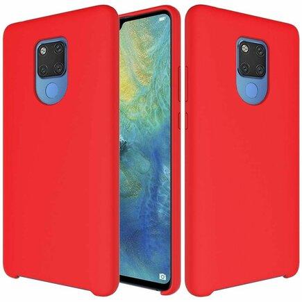Silicone Case elastické silikonové pouzdro Huawei Mate 20 červené