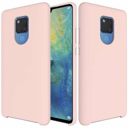 Silicone Case elastické silikonové pouzdro Huawei Mate 20 růžové