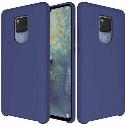 Silicone Case elastické silikonové pouzdro Huawei Mate 20 tmavě modré