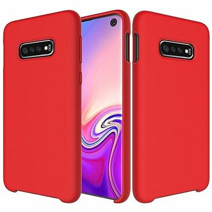 Silicone Case elastické silikonové pouzdro Samsung Galaxy S10 červené