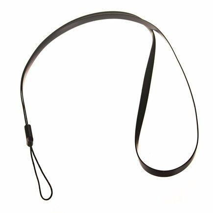 Silikonový řemínek pro telefon na ruku nebo krk 33,5cm černý