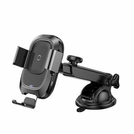 Smart Vehicle Bracket Wireless Charger elektricky uzamykatelný držák do auta na palubní desku/bezdrátová nabíječka Qi s infračerveným senzorem (WXZN-B01)