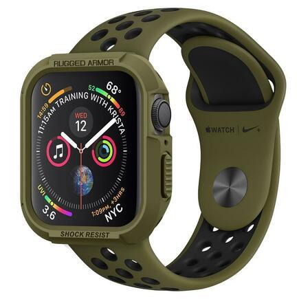 Spigen Pouzdro Rugged Armor Apple Watch 4 (44MM) olivově zelené