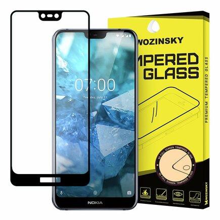 Super odolné trvzené sklo Full Glue na celý displej s rámem Case Friendly Nokia 7.1 černé