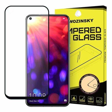 Super odolné tvrzené sklo Full Glue na celý displej s rámem Case Friendly Huawei Honor 20 černé