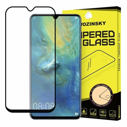 Super odolné tvrzené sklo Full Glue na celý displej s rámem Case Friendly Huawei Mate 20 černé