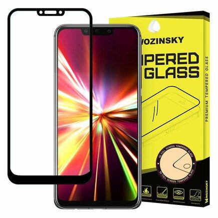 Super odolné tvrzené sklo Full Glue na celý displej s rámem Case Friendly Huawei Mate 20 Lite černé