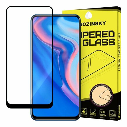 Super odolné tvrzené sklo Full Glue na celý displej s rámem Case Friendly Huawei P Smart Z černé