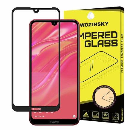 Super odolné tvrzené sklo Full Glue na celý displej s rámem Case Friendly Huawei Y6 2019 / Y6 Pro 2019 černé