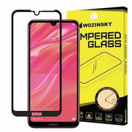 Super odolné tvrzené sklo Full Glue na celý displej s rámem Case Friendly Huawei Y7 2019 / Y7 Pro 2019 / Y7 Prime 2019 černé