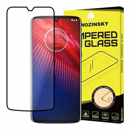 Super odolné tvrzené sklo Full Glue na celý displej s rámem Case Friendly Motorola Moto Z4 černé
