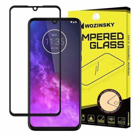 Super odolné tvrzené sklo Full Glue na celý displej s rámem Case Friendly Motorola One Zoom černé