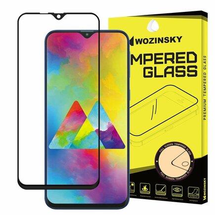 Super odolné tvrzené sklo Full Glue na celý displej s rámem Case Friendly Samsung Galaxy M10 černé