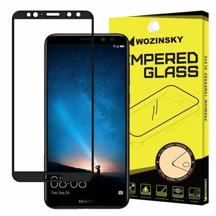 Super odolné tvrzené sklo Full Glue přes celý displej s rámem Case Friendly Huawei Mate 10 Lite černé
