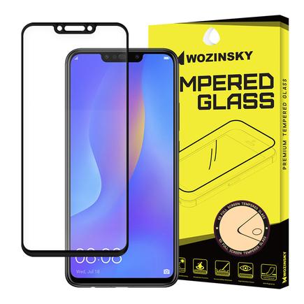 Super odolné tvrzené sklo Full Glue přes celý displej s rámem Case Friendly Huawei P Smart Plus černé